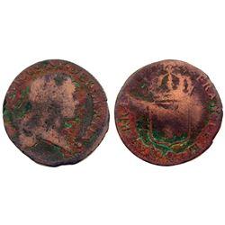 1725-Q [Perpignan Mint] John Law Sol.