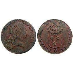 1726-Q [Perpignan Mint] John Law Sol, possibly a 1726/5 Overdate.
