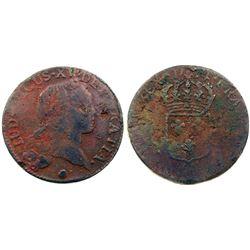 1734-Q [Perpignan Mint] John Law Sol.