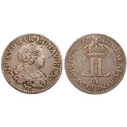 1720-A [Paris Mint] John Law Livre d'Argent Fin.