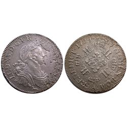 1724-A [Paris Mint] Ecu aux 8 L's, Gadoury 320.