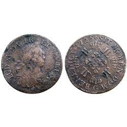 1725-G [Poitiers Mint] Ecu aux 8 L's, Gadoury 320.