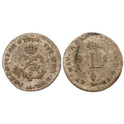1739-A Billon Sous Marques.  Vlack 17c.  Rarity-8.