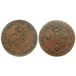 1739-A Billon Sous Marques.  Vlack 18.