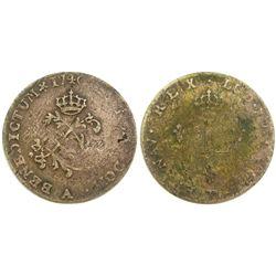 1740-A Billon Sous Marques.  Vlack 19.  Rarity-5.