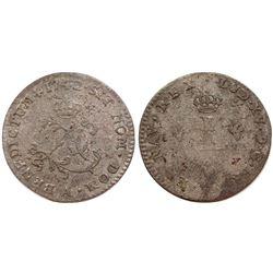 1742 Billon Sous Marques.  Vlack 21b.  Rarity-6.