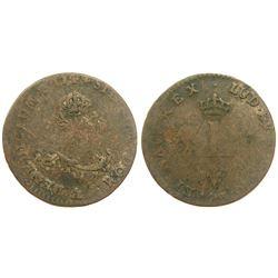 1744-A Billon Sous Marques.  Vlack 23.  Rarity-5.