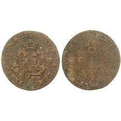 1746/4-A Billon Sous Marques.  Vlack 25b.  Rarity-8.
