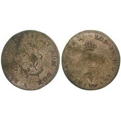 1748-A Billon Sous Marques.  Vlack 28.  Rarity-8.