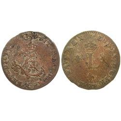 1749/8-A Billon Sous Marques.  Vlack 29b.  Rarity-7.
