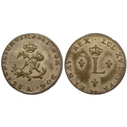 1754/3-A Billon Sous Marques.  Vlack 34b.  Rarity-7.