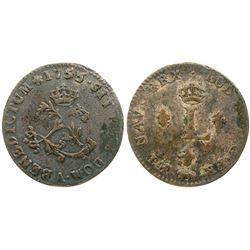 1755/4-A Billon Sous Marques.  Vlack 35c.  Rarity-7.