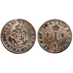 1757/6-A Billon Sous Marques.  Vlack 38d.  Rarity-6.