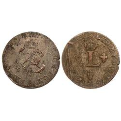 1761-A Billon Sous Marques.  Vlack UNLISTED.  Rarity-8.