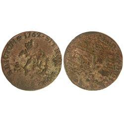 1762-A Billon Sous Marques.  Vlack 46a.  Rarity-4.