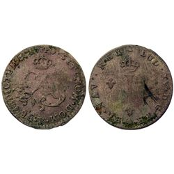 1740-B Billon Sous Marques.  Vlack 51.  Rarity-3.