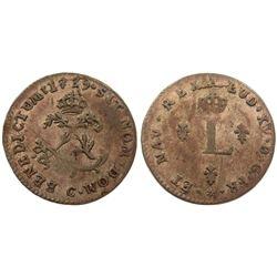 1739-C Billon Sous Marques.  Vlack 56.  Rarity-5.