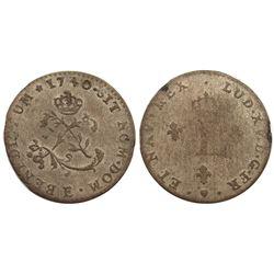 1740-E Billon Sous Marques.  Vlack 78.  Rarity-7.