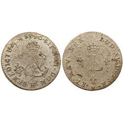 1746-E Billon Sous Marques.  Vlack 84.  Rarity-5.