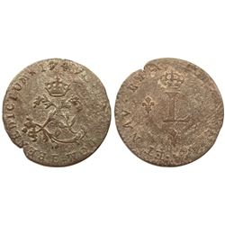 1749-E Billon Sous Marques.  Vlack 87.  Rarity-8.