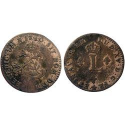 1740-H Billon Sous Marques.  Vlack 96.  Rarity-7.
