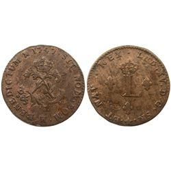 1747-H Billon Sous Marques.  Vlack 107.  Rarity-6.