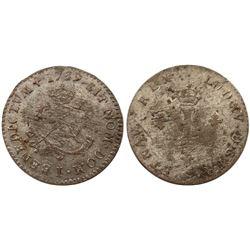 1739-I Billon Sous Marques.  Vlack 115.  Rarity-6.