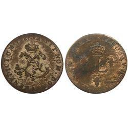 1742-I Billon Sous Marques.  Vlack 118.  Rarity-6.