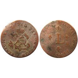 1750-L Billon Sous Marques.  Vlack 139.  Rarity-8.