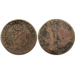 1739-M Billon Sous Marques.  Vlack 143.  Rarity-8.