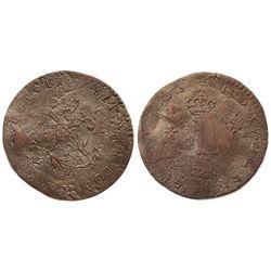 1740-M Billon Sous Marques.  Vlack 144.  Rarity-8.