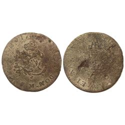 1743-M Billon Sous Marques.  Vlack 147.  Rarity-8.