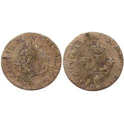 1740-O Billon Sous Marques.  Vlack 155. Rarity-8.