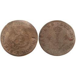 1739-R Billon Sous Marques.  Vlack 175a.  Rarity-7.