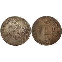 1739-S Billon Sous Marques.  Vlack 180.  Rarity-6.