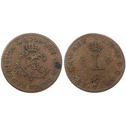 1739-V Billon Sous Marques.  Vlack 193.  Rarity-2.