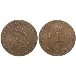 1746-W Billon Sous Marques.  Vlack 207.  Rarity-6.