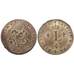 1739-X Billon Sous Marques.  Vlack 214a.  Rarity-6.