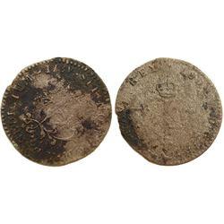 1739-Y Billon Sous Marques.  Vlack 218.  Rarity-8.