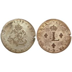 1739-Z Billon Sous Marques.  Vlack 221.  Rarity-8.