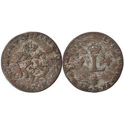 1739-Z Billon Sous Marques.  Vlack 221c.  Rarity-6.
