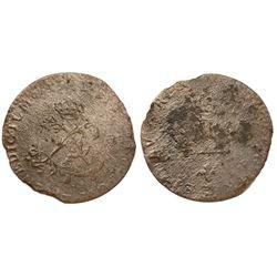 1741-Z Billon Sous Marques.  Vlack 223.  Rarity-8.