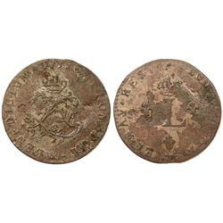 """1739 – """"&"""" Mint Billon Sous Marques.  Vlack 232.  Rarity-8."""