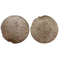 1739-AA Billon Sous Marques.  Vlack 237a.  Rarity-8.