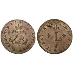 1743-AA Billon Sous Marques.  Vlack 241.  Rarity-6.