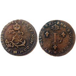 1751-BB Billon Sous Marques.  Vlack 368.  Rarity-4.