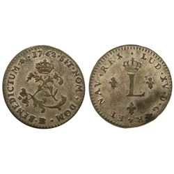 1762-BB Billon Sous Marques.  Vlack 276.  Rarity-1.