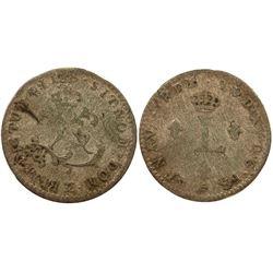 1738-CC Billon Sous Marques.  Vlack 277.  Rarity-8.