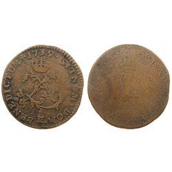 1739-CC Billon Sous Marques.  Vlack 278b.  Rarity-7.