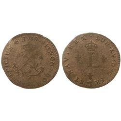 1739-CC Billon Sous Marques.  Vlack UNLISTED or Vlack 278?  Rarity-7?